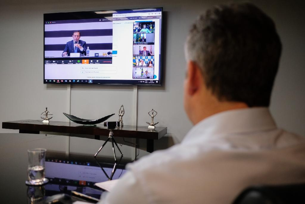 MAURO VIDEO CONFERENCIA COM GOVERNADORES - BOLSONARO