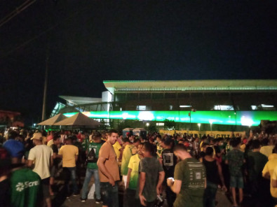 Torcedores na Arena Pantanal  - Cuiab� - Acesso � S�rie A
